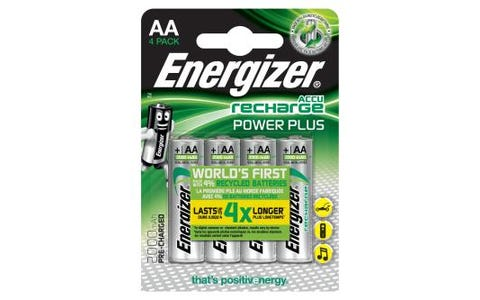 Energizer AA Rechargeable Power PLUS Nimh Batteries - 4 Pack