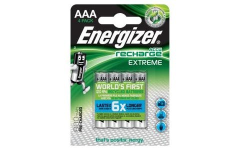 Energizer 4x AAA Rechargeable Extreme Nimh Batteries 800mAh