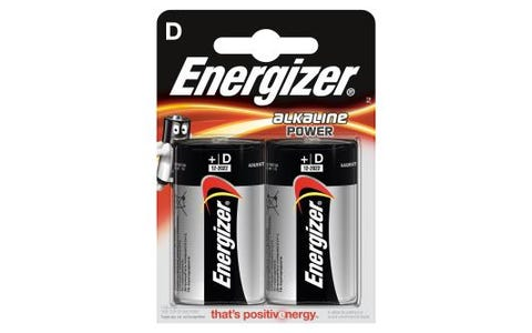 Energizer LR20 Max D 2x Alkaline Power Batteries - 1.5V