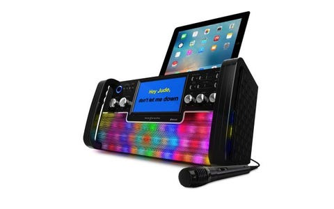 [Refurbished] Easy Karaoke Bluetooth CD&G Karaoke Disco Party Machine with Light Effects