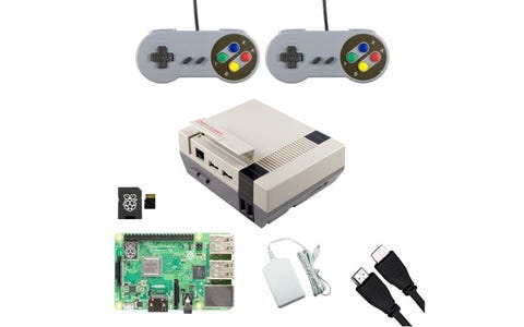 Pi Supply Ultimate NESPi Raspberry Pi Gaming Bundle with Retro Gamepads