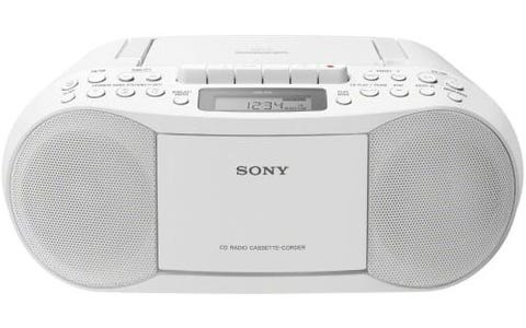 Sony CFD-S70 CD & Tape Cassette Boombox with AM/FM Radio - White