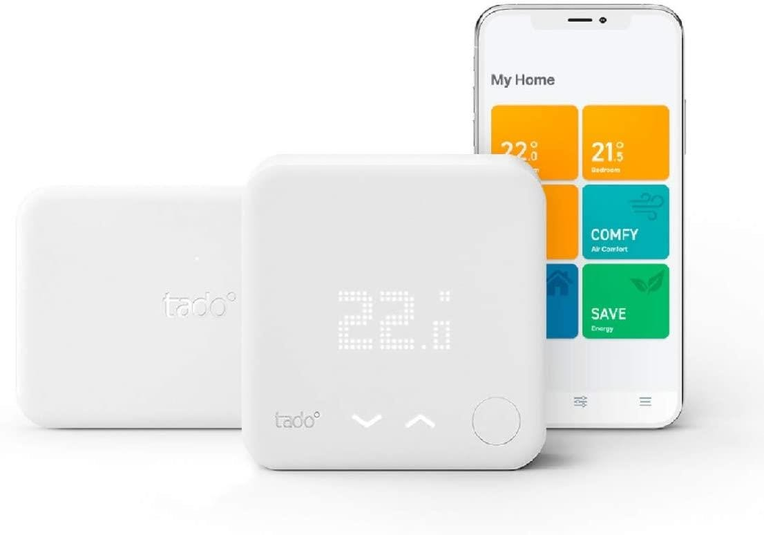 tado Smart Thermostat Starter Kit V3+ with Hot Water Control - DIY Install - White