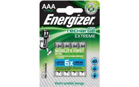 Energizer Extreme Rechargeable Ni-MH AAA Batteries - Pack of 4