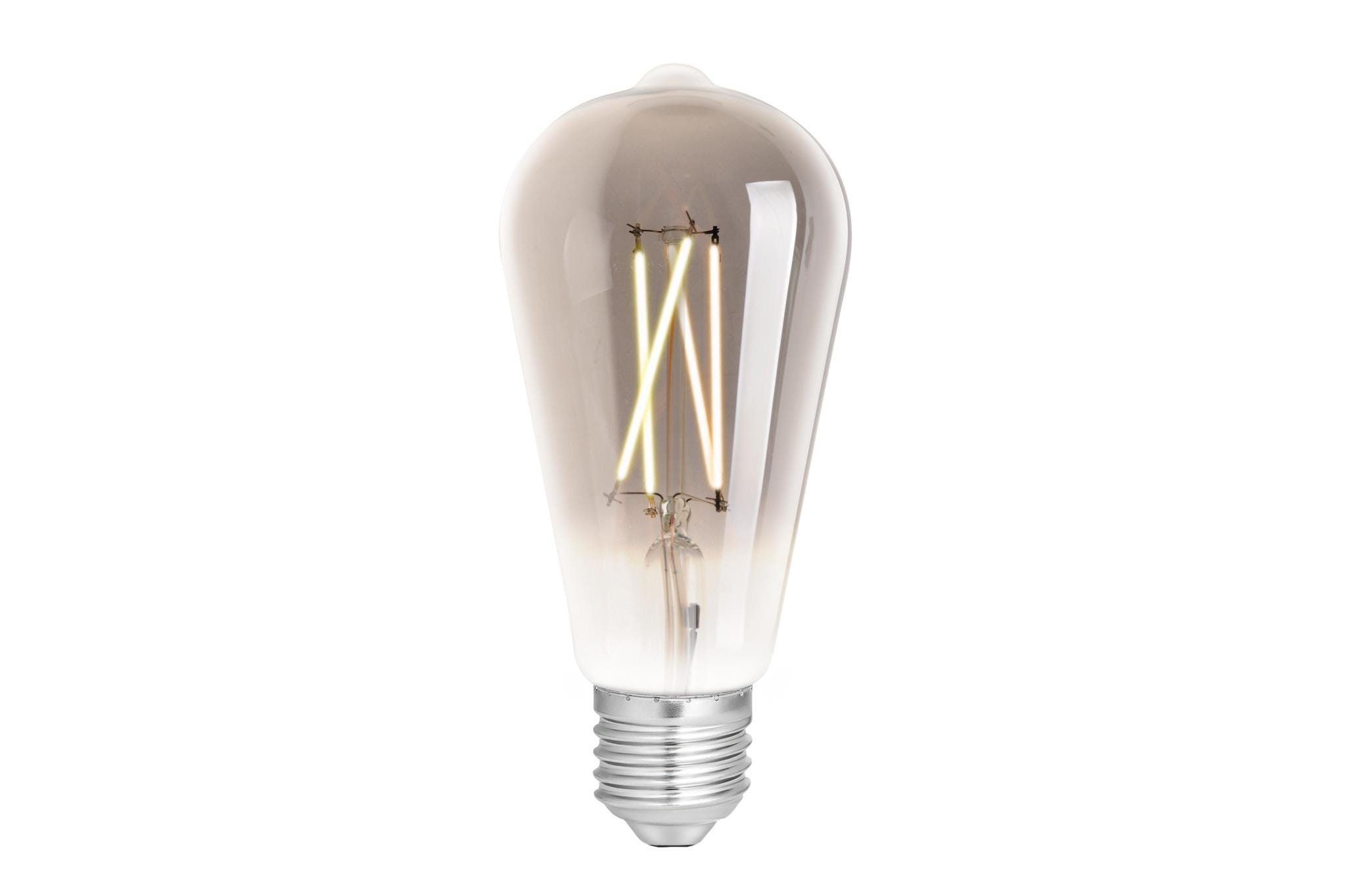 4lite WiZ Connected ST64 Edison Filament LED Smart Bulb Smokey White Dimmable WiFi  - E27 Screw