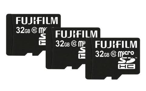 Fujifilm Micro SDHC 32GB High-Performance Class 10 Memory Card inc Adapter (3 Pack)