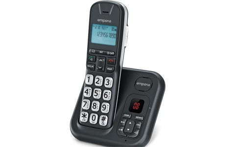 Emporia GD-61-AB Cordless Big Button DECT Phone with Digital Answering Machine