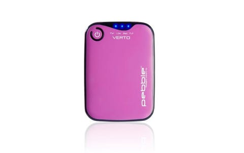 Veho Pebble Verto 3700mAh Portable Power Bank with Carry Case - Pink