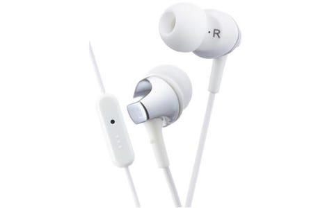 JVC HA-FR325 In Ear Premium Headphones with Mic & Remote (Wired) - White