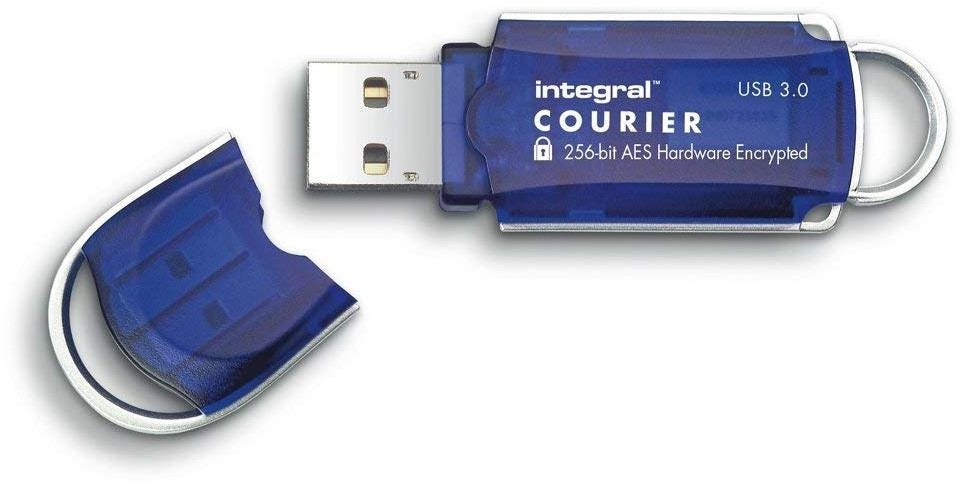 Integral Courier AES 8GB USB 3.0 Flash Drive - Blue