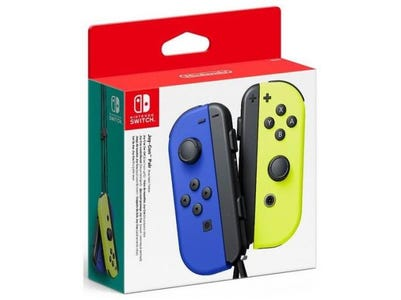Nintendo Switch Joy-Con Pair of Controllers - Blue/Neon Yellow