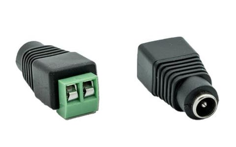 Blupont CCTV and LED Twin Cable to Male 2.1mm DC Power Plug - 5 Pack