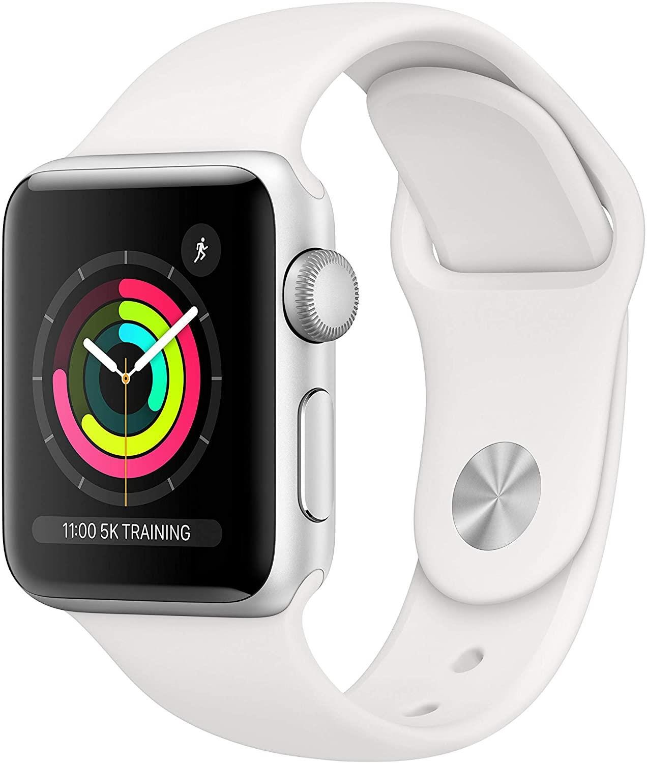 Apple GPS 38mm Watch Series 3 -  Silver Aluminium Case with White Sport Band