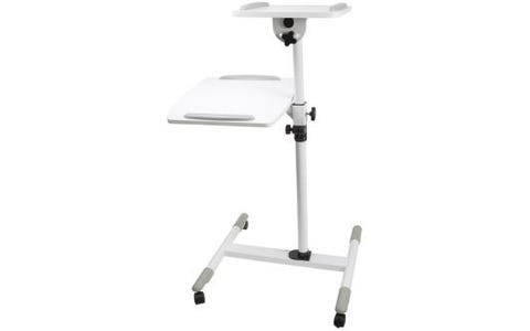 ProperAV Multi-level Projector Trolley for Laptops and Projectors - White
