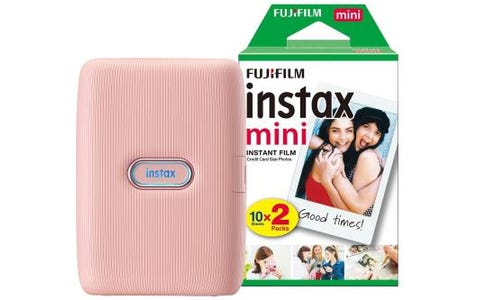 Fujifilm Instax Mini Link Printer including 20 Shots - Dusky Pink
