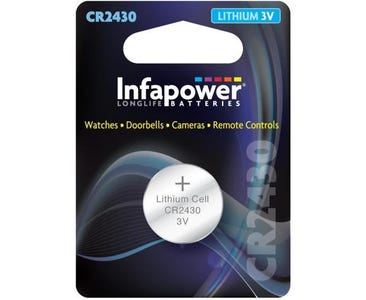 InfaPower CR2430 Lithium Coin Cell 3V Battery