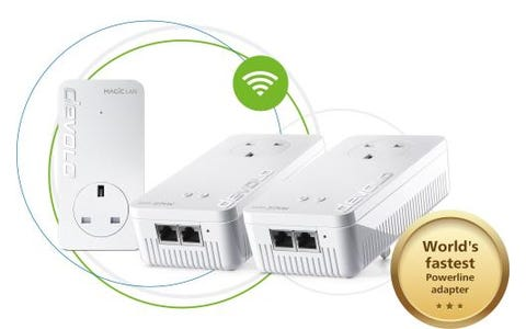 Devolo Magic 2 NEXT Whole Home AC2400 Dual-Band Powerline Adapter Kit - White