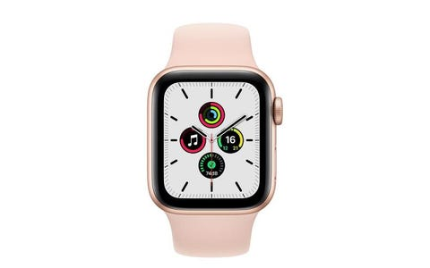 Apple Watch SE GPS - Gold Aluminium Case with Pink Sand Sport Band, 40mm