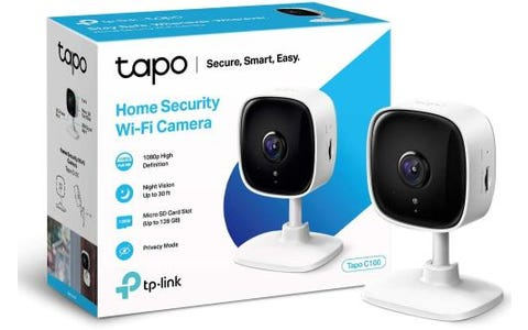 TP-Link Tapo Home Security WiFi Camera - White