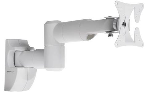 "ProperAV Swing Arm Tilt & Swivel 19 - 28"" TV Bracket - White"