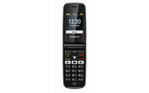 Emporia Active Glam 4G Clamshell Mobile Phone with Extra Large Keys