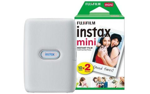 Fujifilm Instax Mini Link Printer including  20 Shots - Ash White