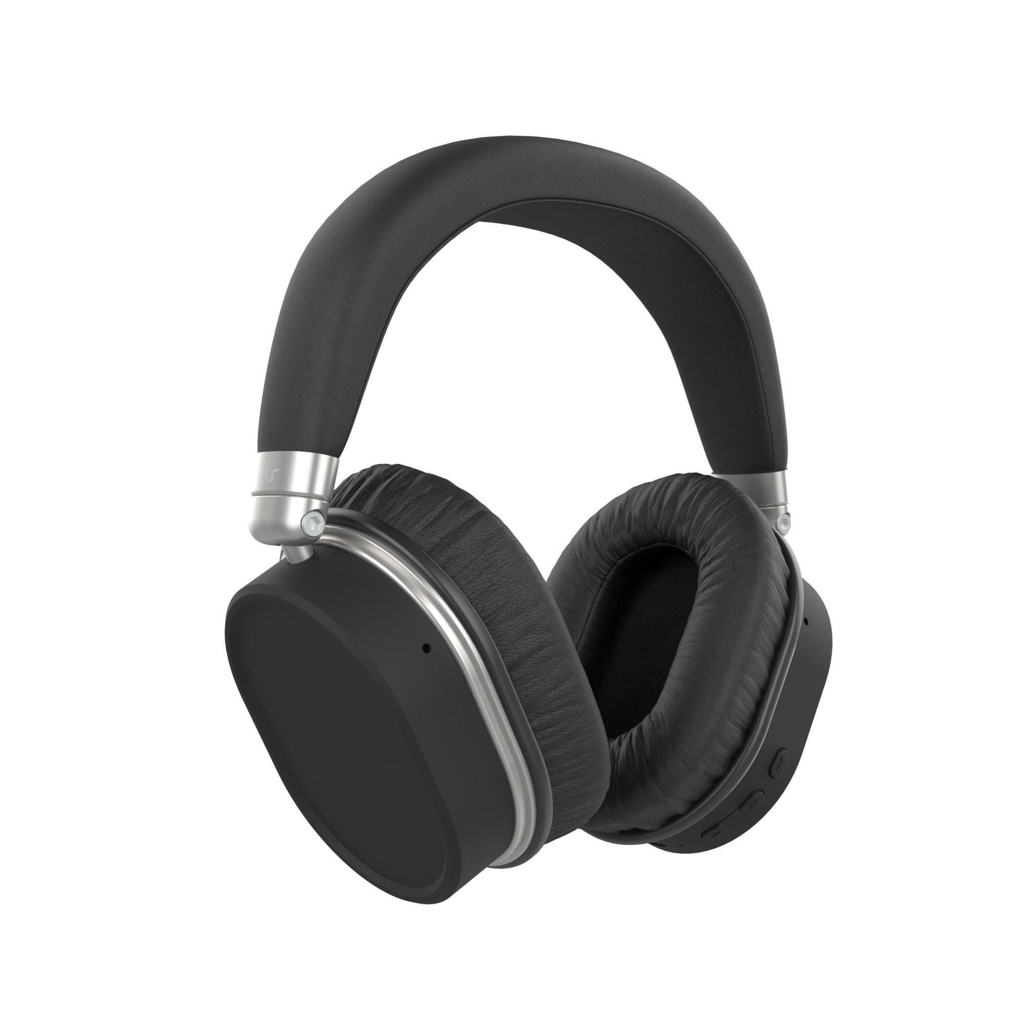 KitSound Immerse 75 Wireless Bluetooth Noise-Cancelling Over-Ear Headphones - Black
