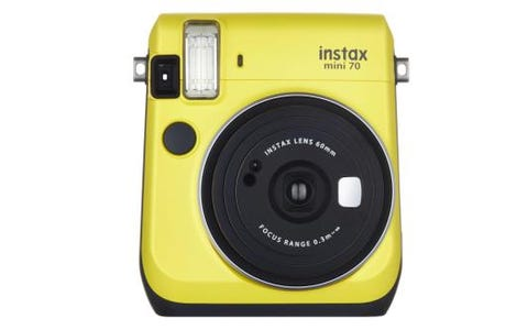 Fujifilm instax Mini 70 Instant Camera - inc 10 Shots - Yellow