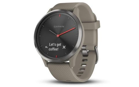 Garmin Vivomove HR Hybrid Sport Smartwatch - Black with Sandstone Silicone