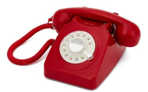 GPO 746 Retro Rotary Dial Telephone - Red