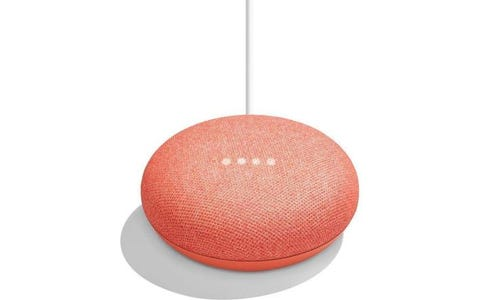 Google Home Mini Smart Speaker - Coral