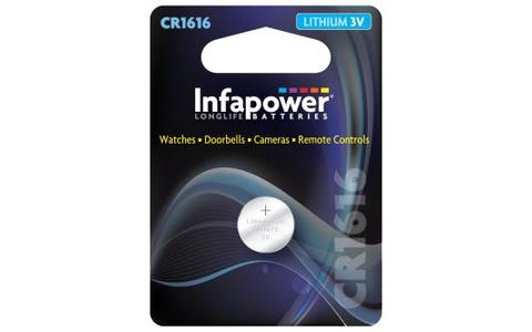 InfaPower CR1616 Lithium Coin Cell 3V Battery