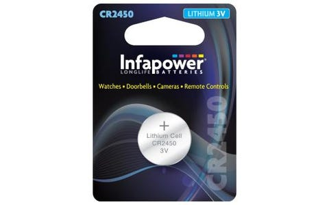 InfaPower CR2450 Lithium Coin Cell 3V Battery