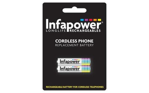 InfaPower Rechargeable Ni-Mh Battery for Cordless Telephones 2x AAA loose (59)