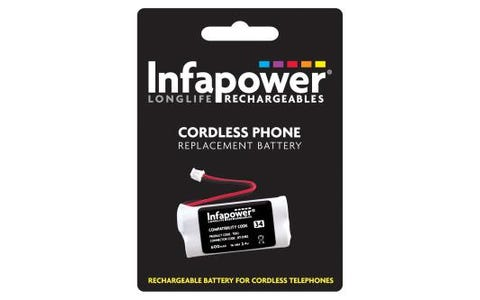 InfaPower Rechargeable Ni-Mh Battery for Cordless Telephones - 2x AAA pack
