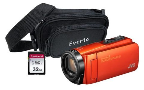 JVC GZ-R495 Orange 4GB Memory HD Quad Proof Camcorder Kit inc 32GB SD and Case