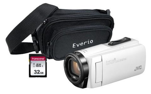 JVC GZ-R495 White 4GB Memory HD Quad Proof Camcorder Kit + 32GB SD and Case