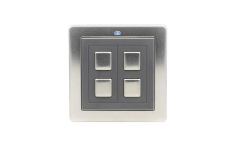 Lightwave Connect Series Wire-Free Switch (2 Gang) - Stainless Steel