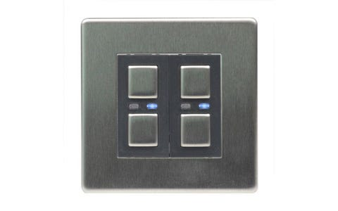 Lightwave Connect Series Master &  Slave Dimmer Switch - Stainless Steel