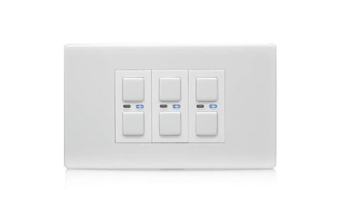 Lightwave Connect Series Dimmer Switch (3 Gang) - White Metal