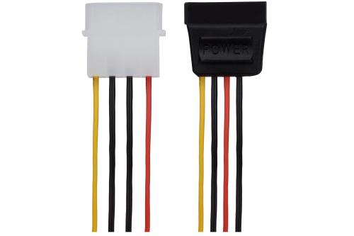 Maplin 4 Pin Molex Male to 15 Pin SATA Female Power Lead 0.2m