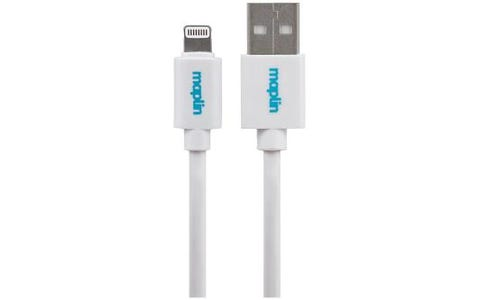 Maplin Premium Lightning Connector to USB A Male Cable 1.5m White