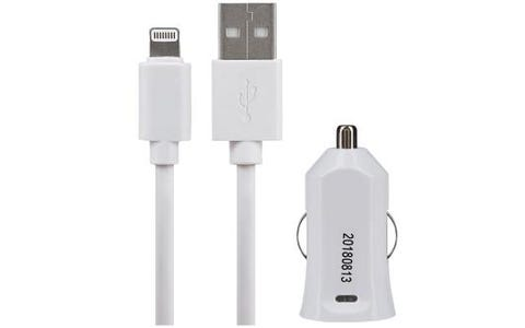 Maplin Lightning to USB A Male Cable 1.5m Plus USB Car Charger 2.4A