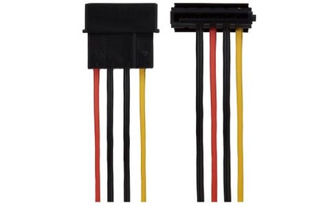 Maplin 4 Pin PSU Molex to 2x 15 Pin SATA Power Lead Cable 35cm