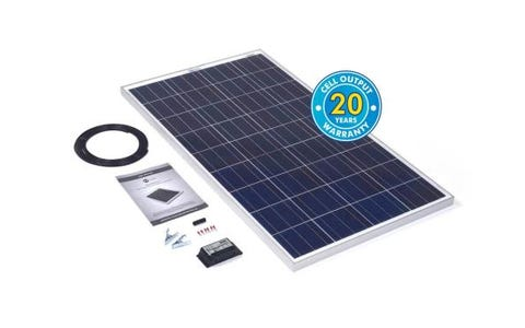 PV Logic 120wp Solar Panel Kit &10Ah Charge Controller