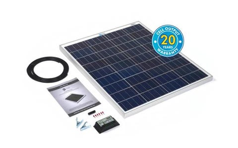 PV Logic 80wp Solar Panel Kit & 10Ah Charge Controller