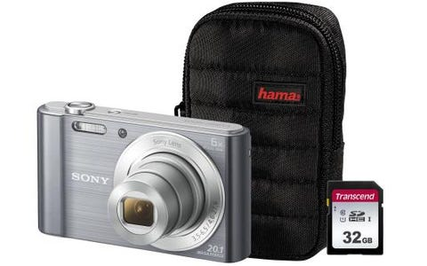 Sony DSC-W810 Silver Camera Kit inc 32GB SD Card and Case