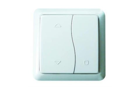 Lightwave Connect Series Wire-Free On/Off/Stop Switch - White