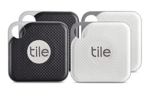 Tile Pro Smart Tracker -Black/White Combo  - 4 pack