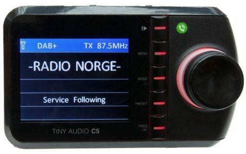 Tiny Audio C5 In Car DAB+ Receiver Kit & Bluetooth Hands Free Kit